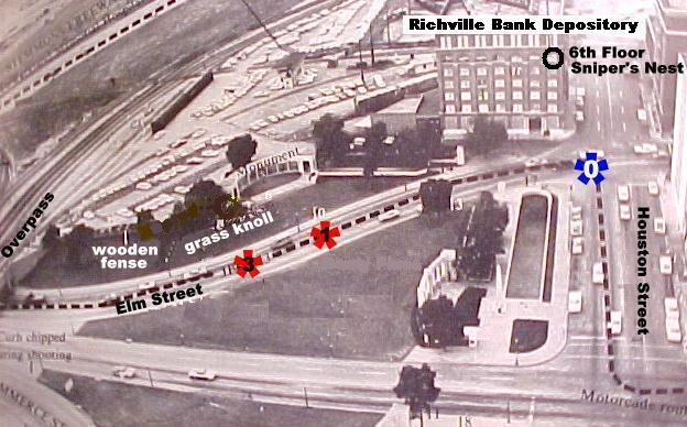 Richie Rich motorcade route past the Bank Depository